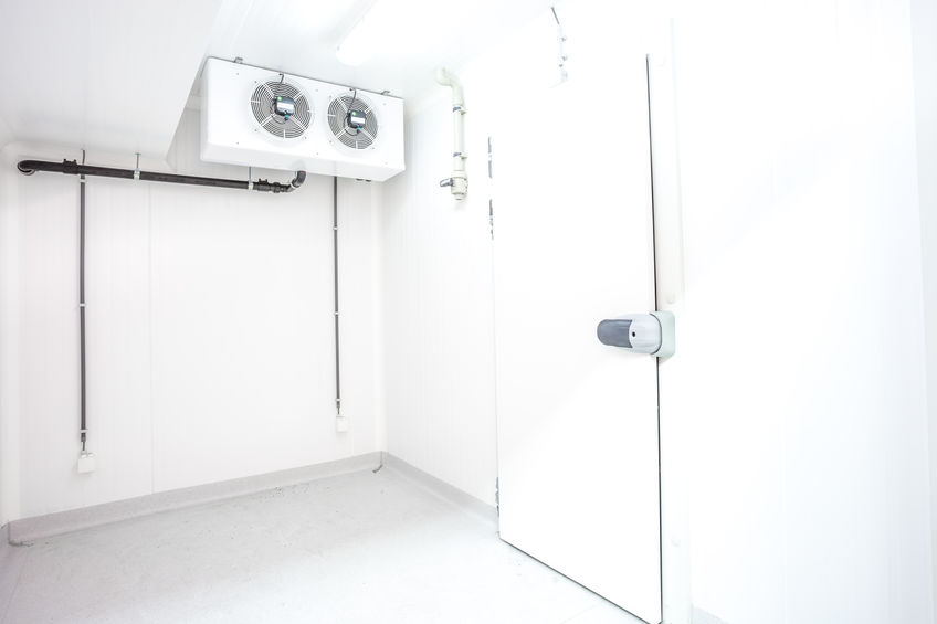 pull handle of an door of an refrigerator